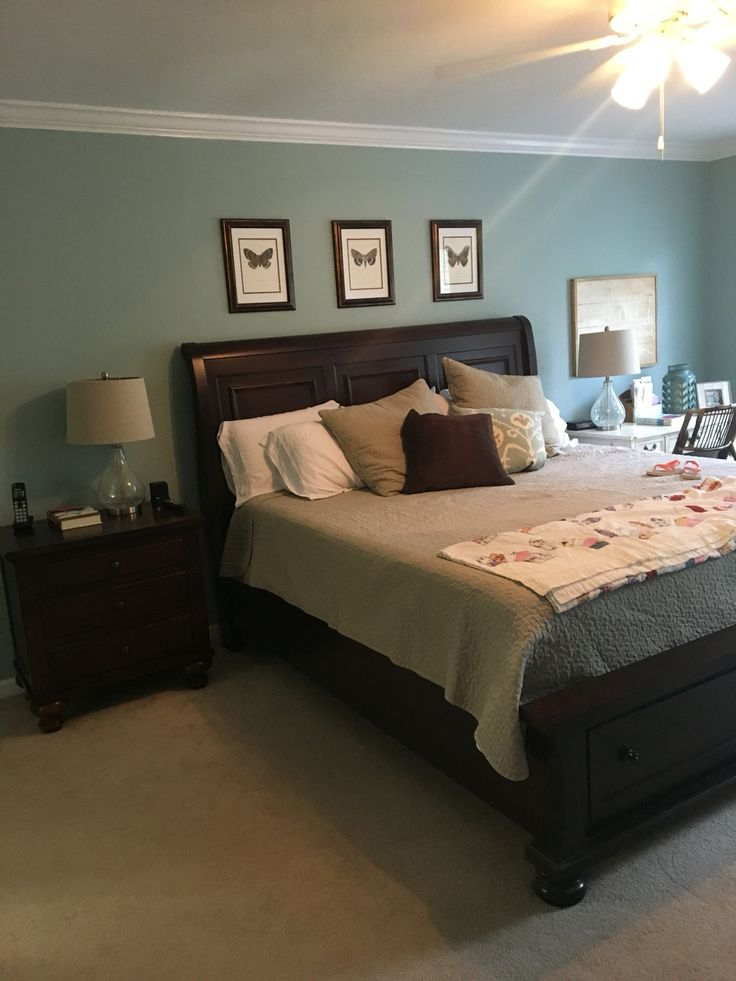 master bedroom green sherwin williams quietude beautiful blue green for 12279