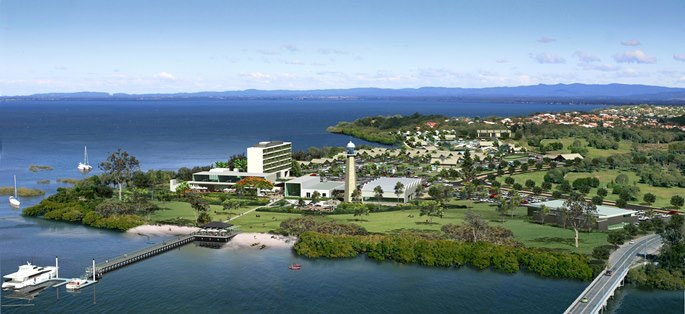 [NEWS] An artist's impression of the proposed Sandstone Point Hotel & Resort. The first stage is expected to be complete by late 2013.