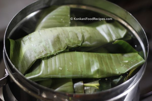 Banana leaves are an essential part of traditional Konkani cooking. They're used to help cook so many dishes. They impart their smell & taste to the dishes cooked in them.