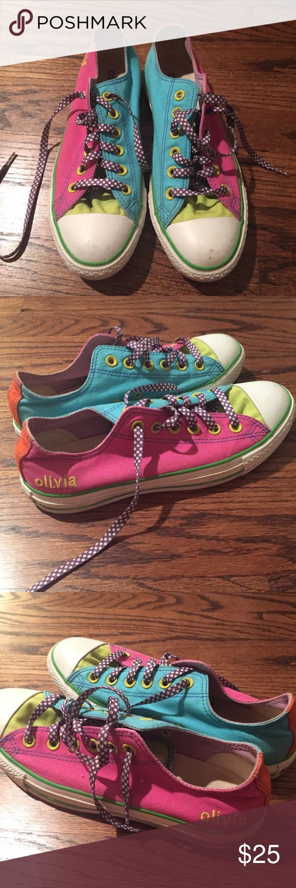 Customized Converse Low Tops Converse Monogram Olivia Converse Shoes Sneakers