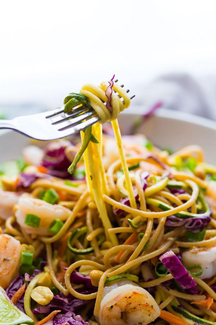 Spiralized Veggie Thai Noodle Bowls