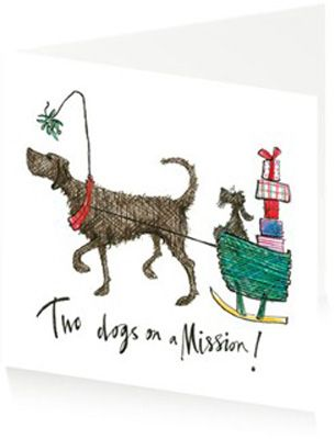 The 142 best sam toft images on pinterest quirky art whimsical two dogs on a mission by sam toft xmas cardsgreeting m4hsunfo