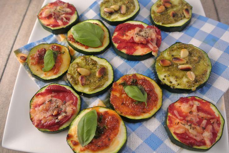 courgette mini pizza's gezonde snack