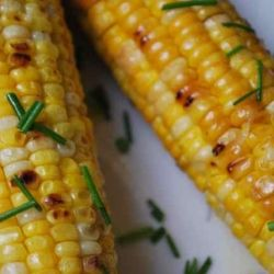 Grilled Corn with Garlic butter