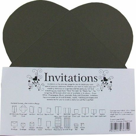 Paper State Invitations Cloverleaf Card - Chocolate (10 Sheets)