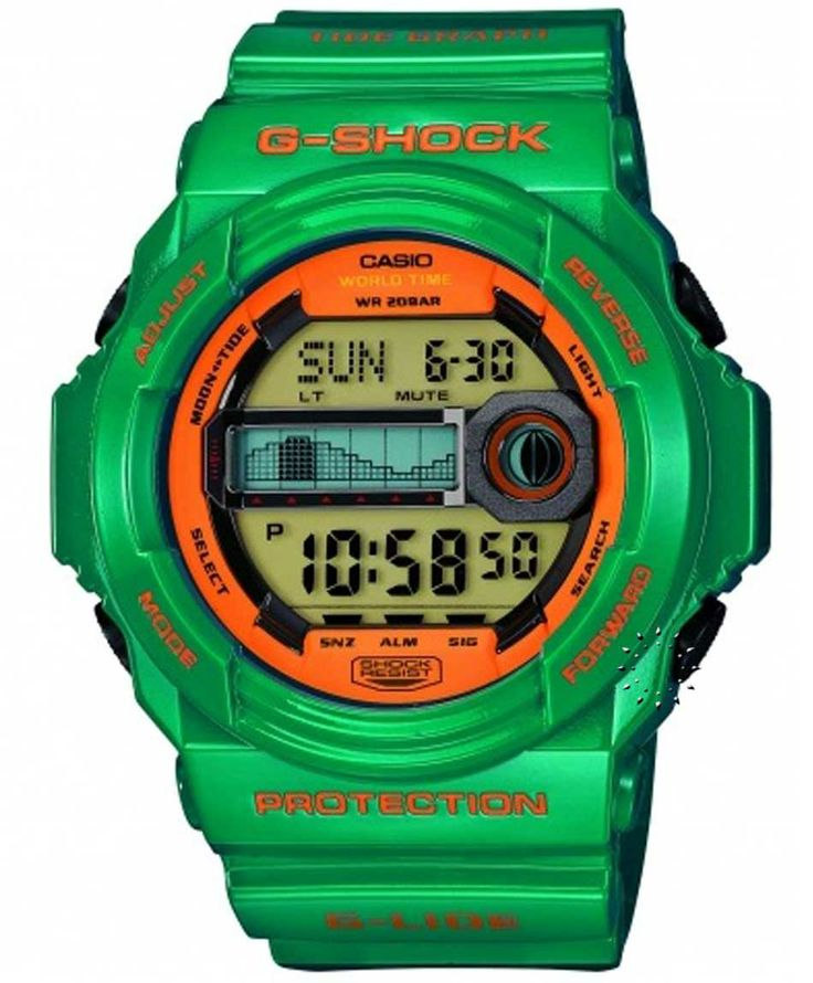 CASIO G-Shock Green Rubber Strap Τιμή: 135€ http://www.oroloi.gr/product_info.php?products_id=34544