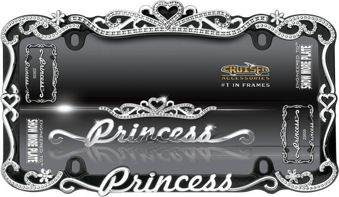 Princess Car License Plate Frame Girly Auto Accessory