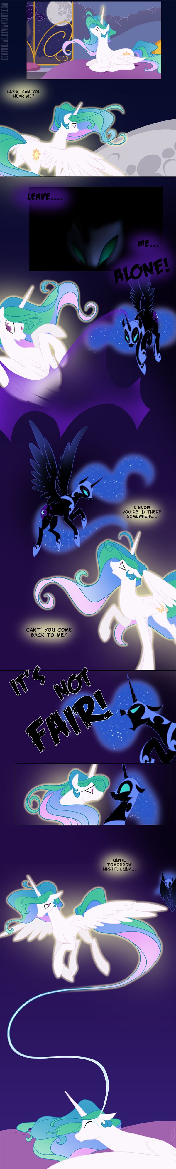 Every Night by Egophiliac on Deviantart - Celestia and Luna