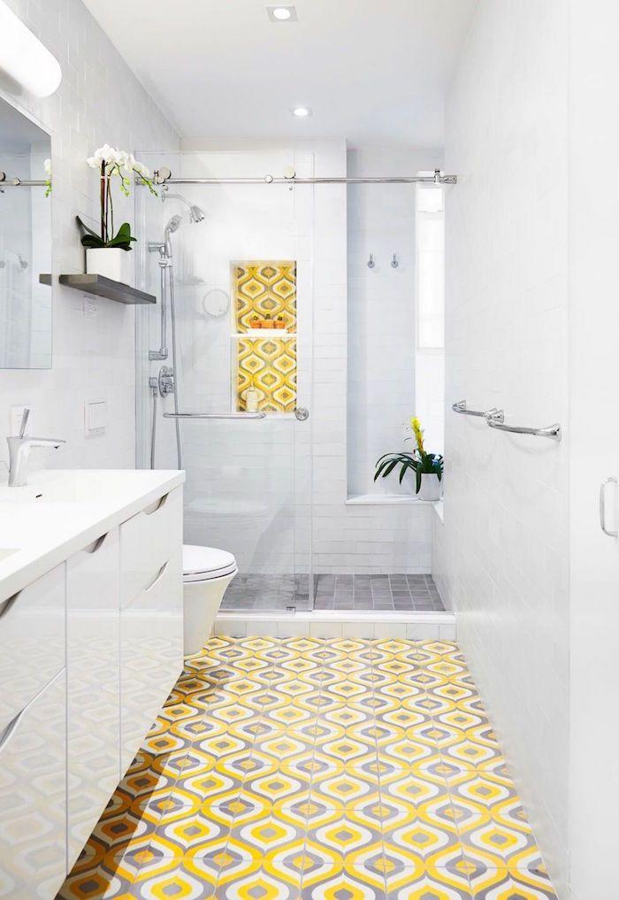 1728 best salle de bain images on pinterest - Faience salle de bain blanche ...