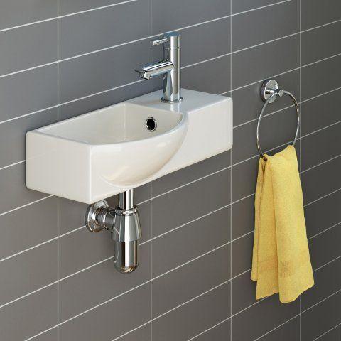 Isla Wall Hung Cloakroom Basin - Small | Soak.com