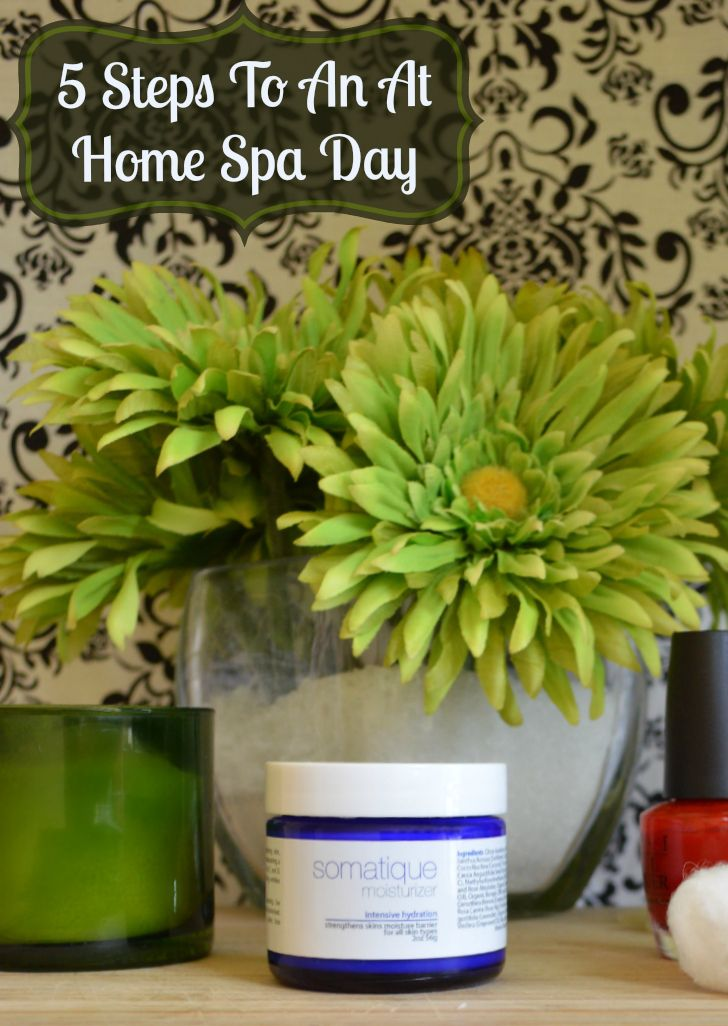 Five Steps To An At Home Spa Day pin http://makobiscribe.com/five-steps-to-an-at-home-spa-day/