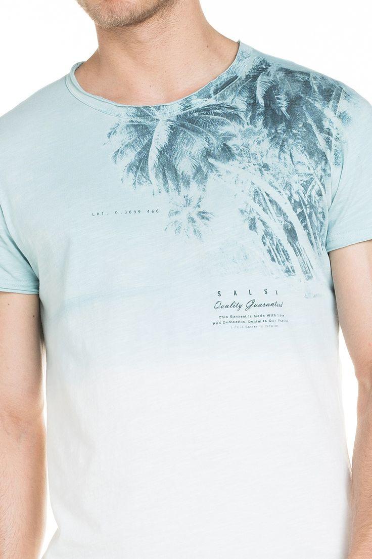 T-shirt com estampado localizado - Salsa
