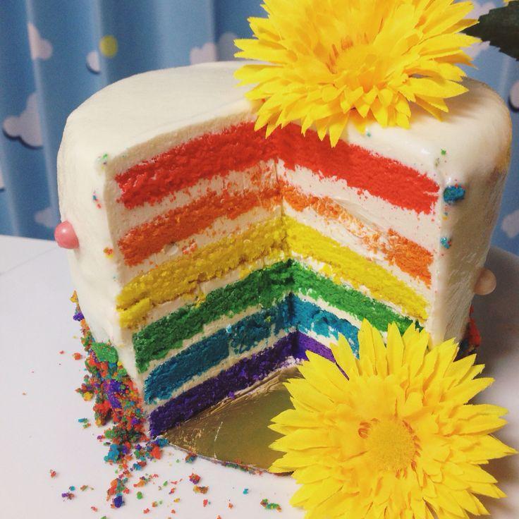 Rainbow cake  www.the.rainbowholic.me
