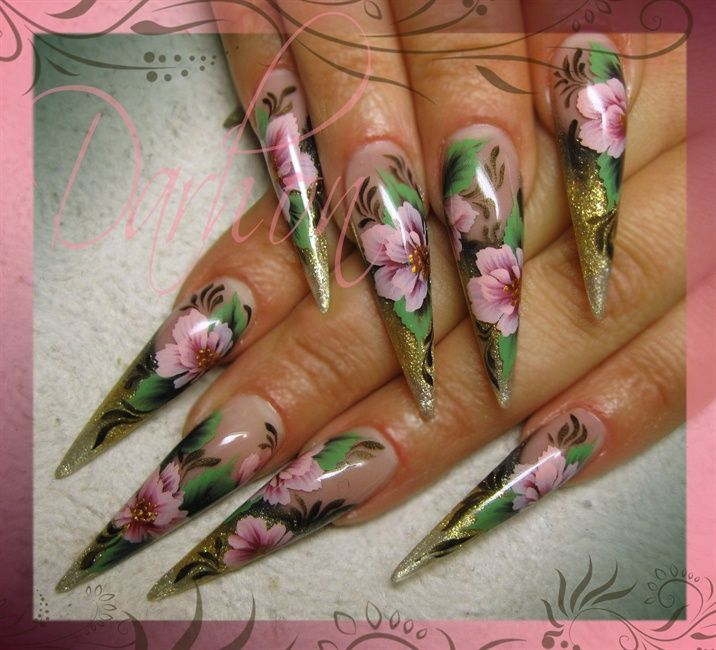 101 best competition nails images on pinterest nail designs nail art gallery one stroke on gold prinsesfo Gallery
