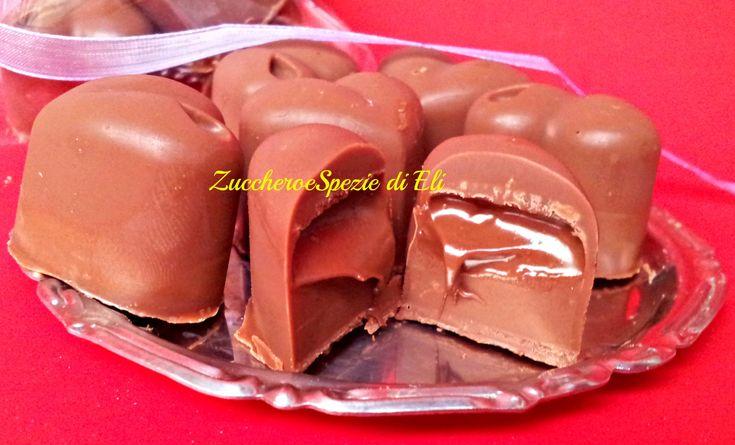 Cioccolatini con cuore di Nutella. Idee regalo per Natale
