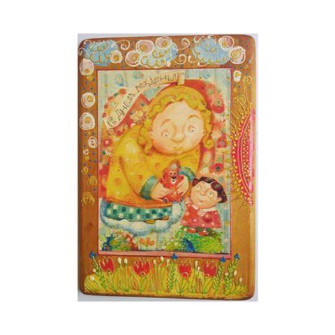 """Ищете подарок на день рождения? Подарите панно ручной работы - оригинальный и запоминающийся подарок как ребёнку, так и взрослому 🎁 В наличии разные изображения. ☝🏻 В подарок - фирменная холщовая сумка 🙌🏼  Панно """"Веселый Ангел""""    Панно излучает невероятную доброту и позитивное отношение к миру. Послужит прекрасным подарком на именины, крестины, день рождения для детей и взрослых.   Душе полезно окружать ребенка ангельскими изображениями, напоминая младенцам о чистоте души. Отлично будет…"""