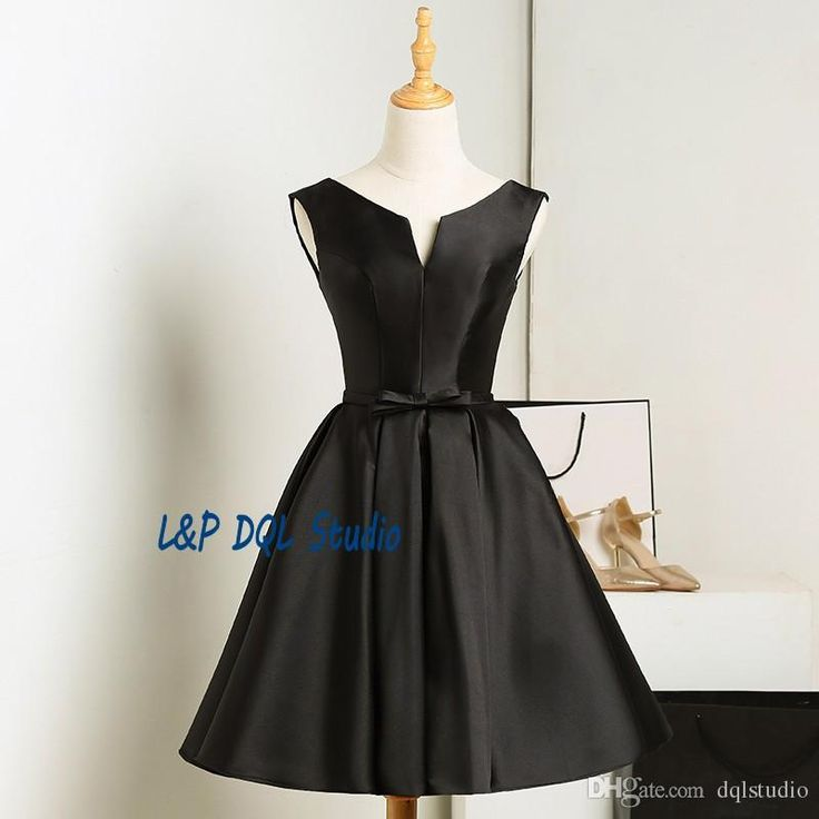 Black Bridesmaid Dresses 2017 Summer Style Elegant Wedding Party Dresses Scoop Sleeveless Lace-up Back Knee-Length Bridesmaid Gowns Cheap Bridesmaid Dress Bridesmaid Dresses Short Bridesmaid Dresses Online with $89.0/Piece on Dqlstudio's Store   DHgate.com