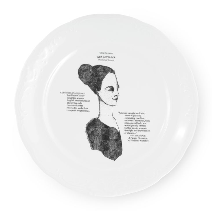 Talerz płaski - Great Inventors - DECO Salon. Designed by Kaja Kusztra. Collection has been awarded the most important prizes in the Polish #design - the title #musthave Łódź Design Festival 2013 #tableware #kitchenaccessories