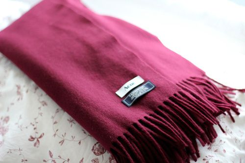 Acne scarf in Red Wine, looks so cosy