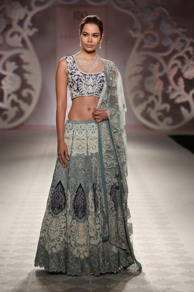 Varun Bahl at India Couture Week - blue lehnga