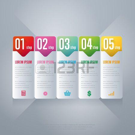 Elementi Infografica. concetto di business creativo di fase, parti, passi. Modello per grafico, presentazione, grafico e design brochure. Layout per il sito web o di materiale stampato. Illustrazione vettoriale.