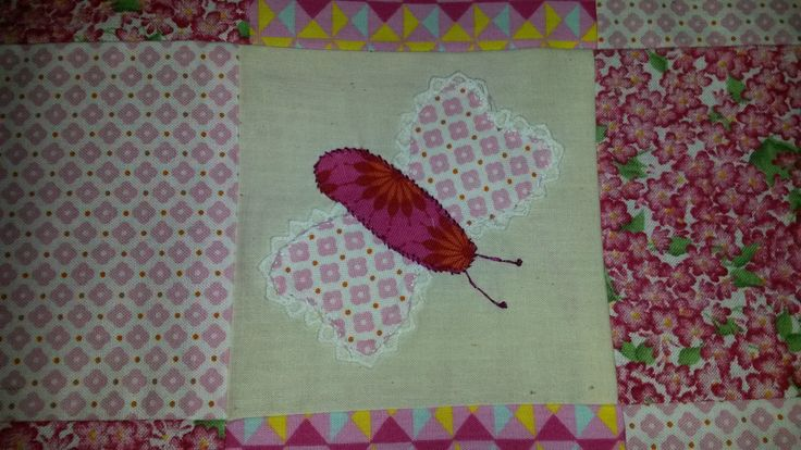 Appliqué Butterfly with lace