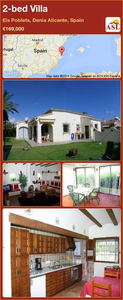 2-bed Villa in Els Poblets, Denia   Alicante, Spain ►€169,000 #PropertyForSaleInSpain