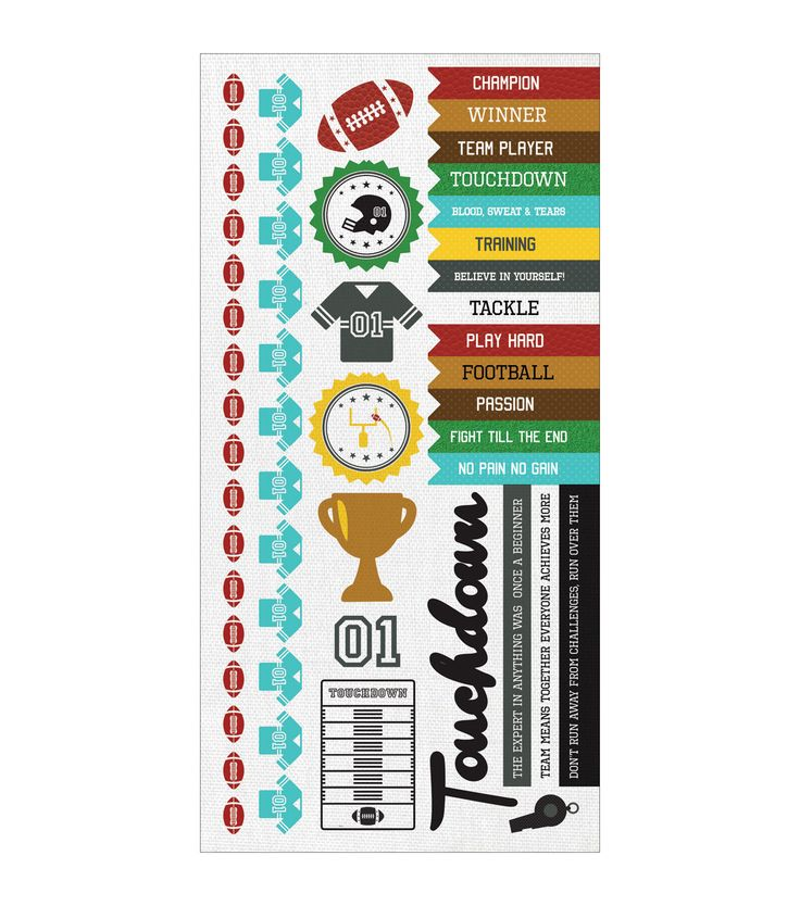 Kaisercraft Game On! Football Cardstock Stickers