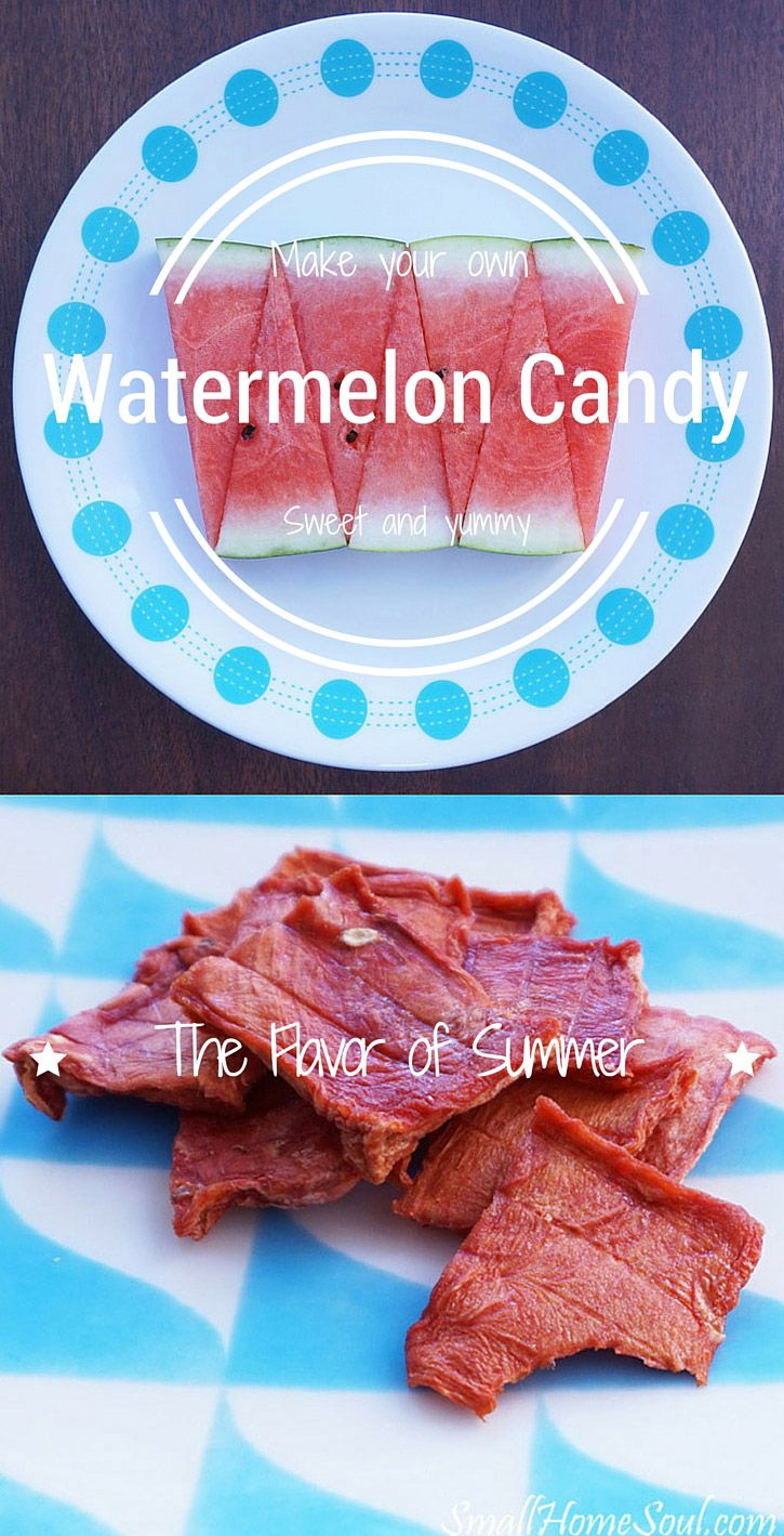 You can make your own Watermelon candy at home as a sweet treat for you and for the kids. It's a great way to enjoy a sugar free snack that's full of vitamins for a healthy body….www.smallhomesoul.com