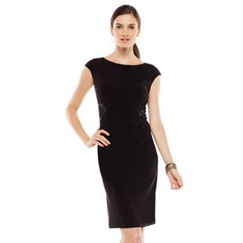 Chaps Lace Trim Sheath Dress Women S