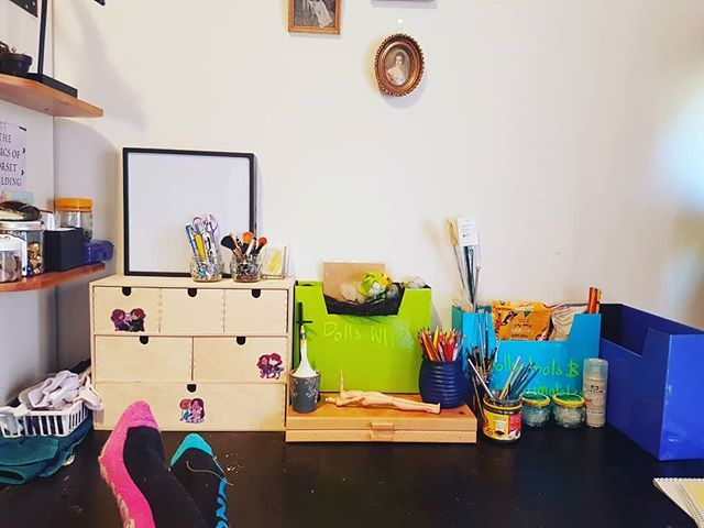 So long as I don't turn my head at all my craft room looks great!  #craftroom #closeenough #springcleaning #ificantseeititdoesntexist