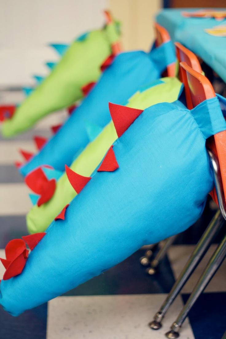 dinosaur birthday - dino tails for favors