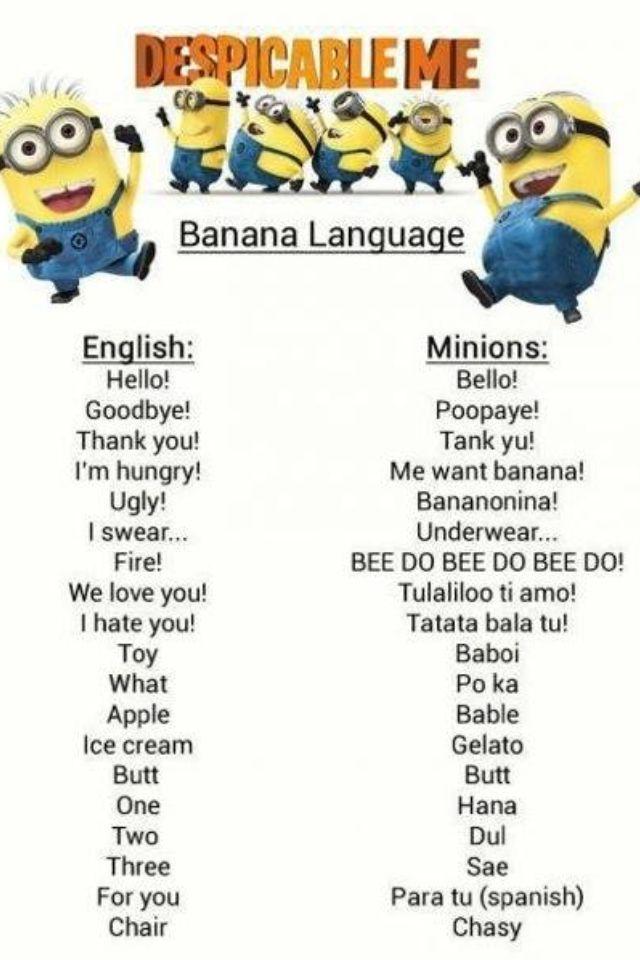 Despicable Me Minion language