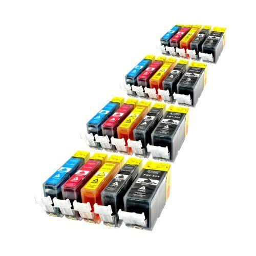 (Germany): Bürobedarf: 20 Patronen MIT CHIP kompatibel zu PGI-525BK , CLI-526C , CLI-526M , CLI-526Y und CLI-526BK [Kaufen Neu: EUR 15,44 ]