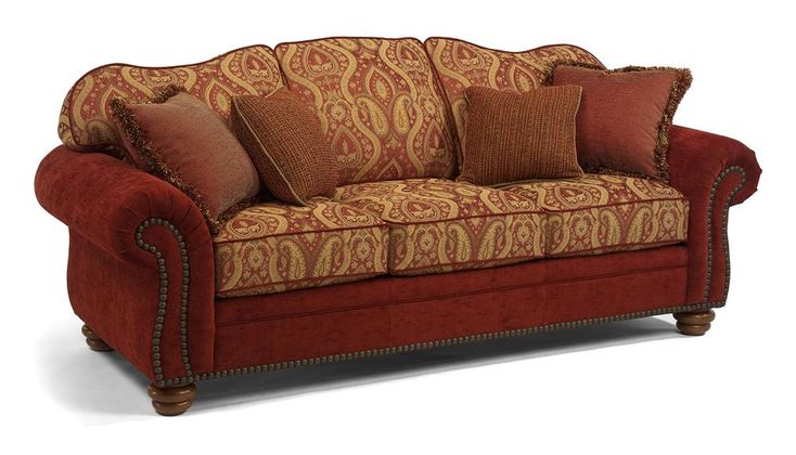 Flexsteel Bexley Traditional Sofa With Nail Head Trim Turk Furniture Sofa Joliet Champaign