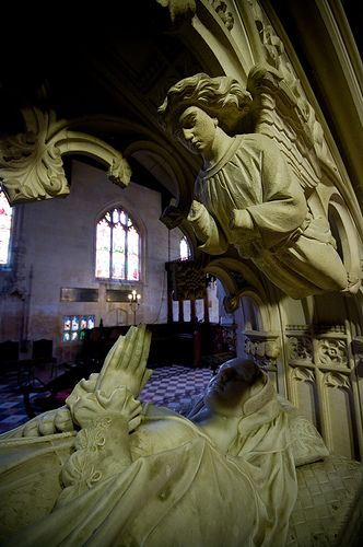 The Tomb of Queen Katherine Parr at St Mary's Chapel, Sudeley Castle, Gloucestershire, UK