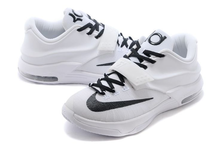 Nike KD 7 Customs | Cheap Nike KD 7 VII Custom All White Black For Sale Online-2