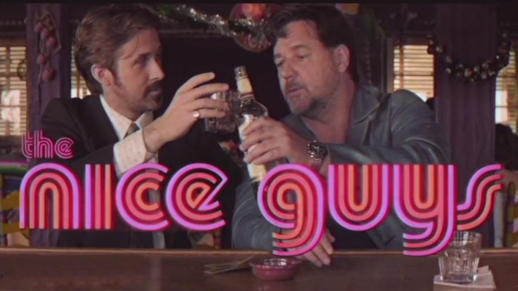 The Nice Guys Sing, Fight, and Solve Crimes in a Retro 1970s Style Movie Trailer