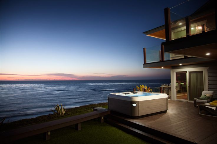 I would love to make this my every evening.  #hottub