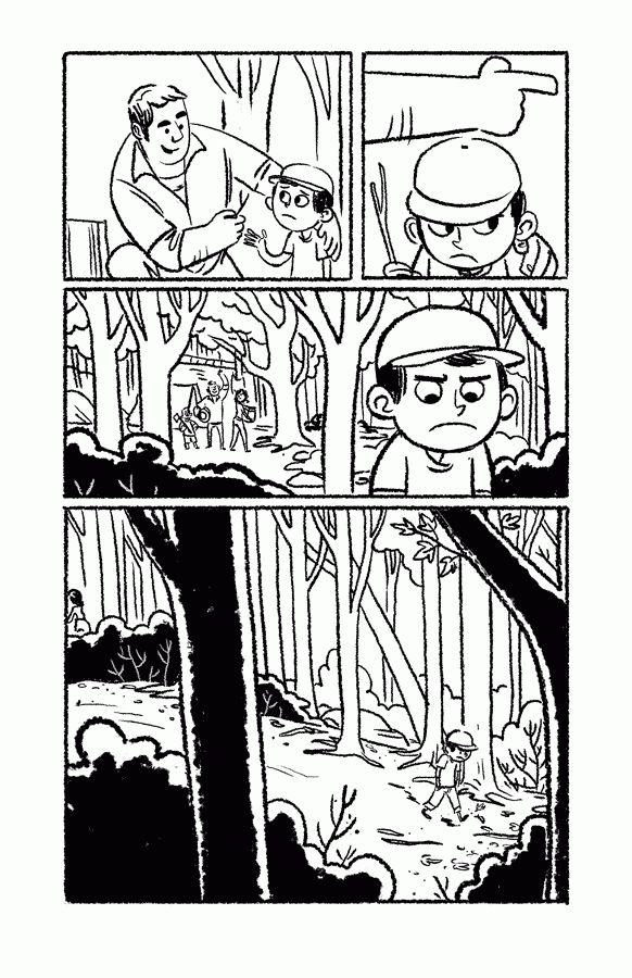 Uma história em quadrinhos pirada sobre meninos, meninas e lobos