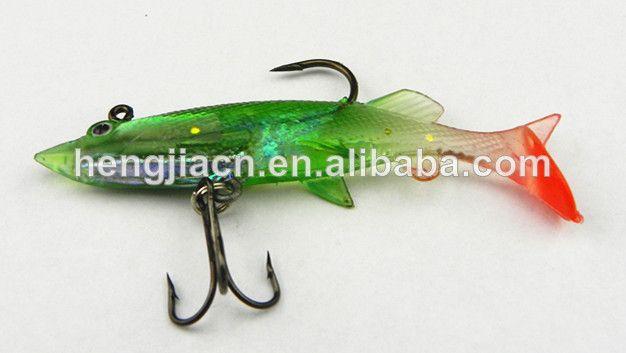 Soft artificial bait salt rigged fishing lures swim bait 8CM 11G Plastic soft lures wholesale shad soft plastic fishing lure