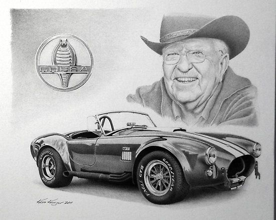 "Carroll Shelby "" Posters by Kevin Krueger 