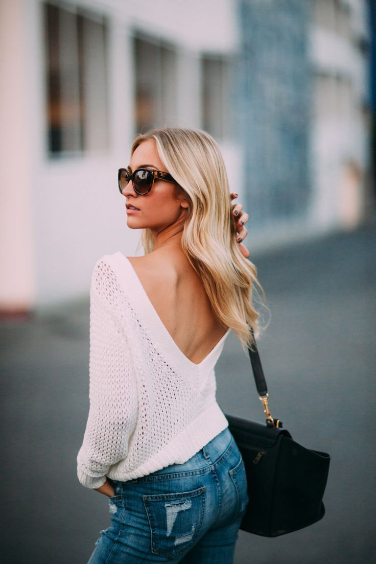 V-Back Knit Sweater - AngelFoodStyle // Powered by chloédigital