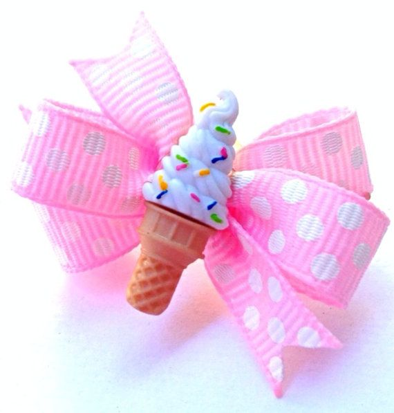 Hey, I found this really awesome Etsy listing at https://www.etsy.com/listing/206043545/ice-cream-cone-hair-bow-ice-cream-dog