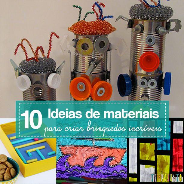 Pregador de roupa, papel alumínio, caixa de ovo são exemplos de materiais simples para fazer brincadeiras baratas e criativas com as crianças
