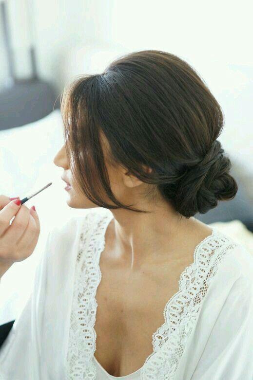 Gorgeous low chignon ♡ #wedding #style #hairstyles #updo #chignon #beautiful #bride #bridesmaid #bridalhairstyles