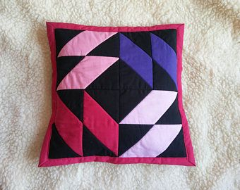 funky pillow, black and fuchsia pillowcase
