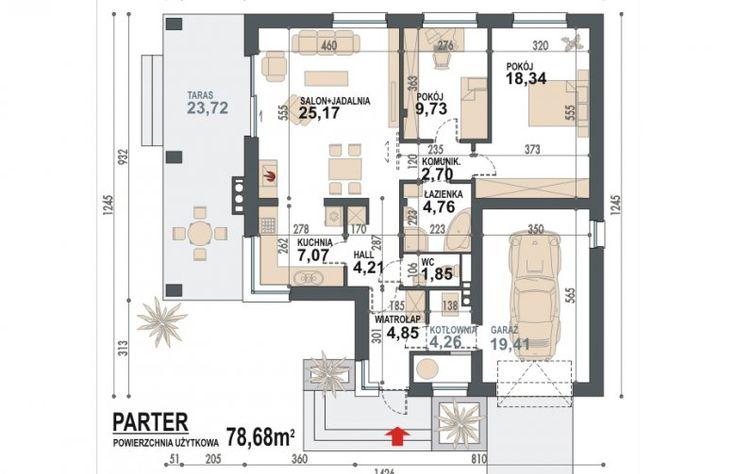 Projekt domu dwurodzinnego Maja -