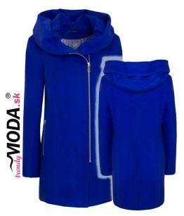 Modrý zimný kabát pre moletky– trendymoda.sk