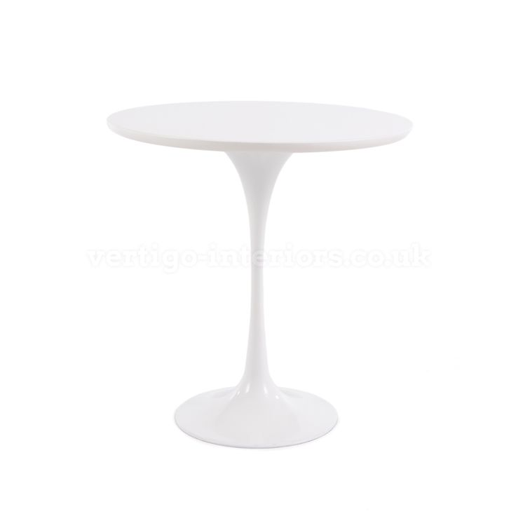 Saarinen Tulip Side Table - White Top > Side Tables > Living   Vertigo  Interiors - 11 Best Images About White Gloss On Pinterest Coffee Table